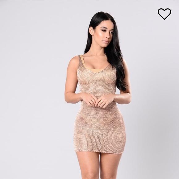 0f19abed991 Fashion Nova Dresses | Rose Gold Beach Cover Up | Poshmark